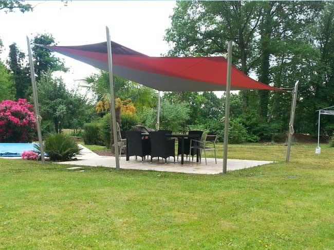 Voile d'ombrage pour jardin extérieur
