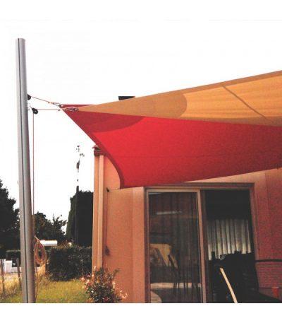 Deux voiles triangulaires et deux mâts 5800 x 4000 x 5000mm