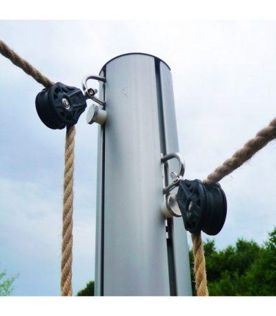 Mât aluminium avec 2 coulisseaux