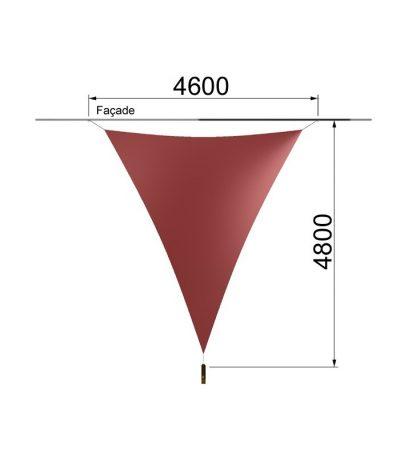 Une voile triangulaire et un mât 4600 x 4800 mm