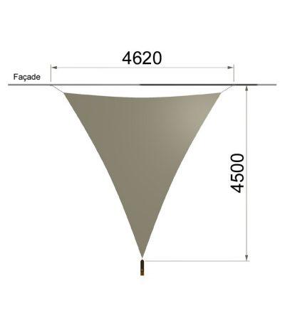 Une voile triangulaire et un mât 4620 x 4500 mm