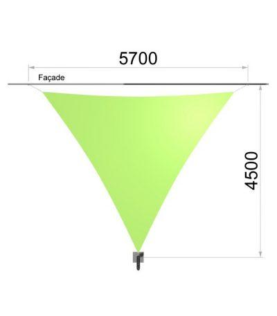Une voile triangulaire et un mât 5700 x 4500 mm