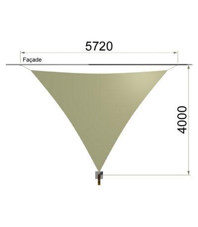Une voile triangulaire et un mât 5720 x 4000 mm