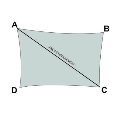 voile sur mesure rectangle avec enrouleur