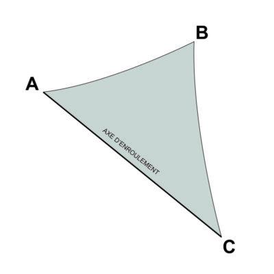 voile sur mesure triangle avec enrouleur