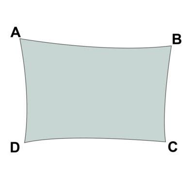 voile sur mesure rectangle sans enrouleur