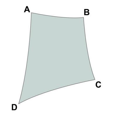 voile sur mesure trapèze sans enrouleur
