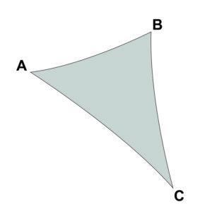 voile sur mesure triangle sans enrouleur